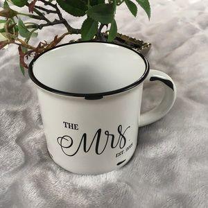 The Mrs Ceramic White Enamel Look Coffee Mug